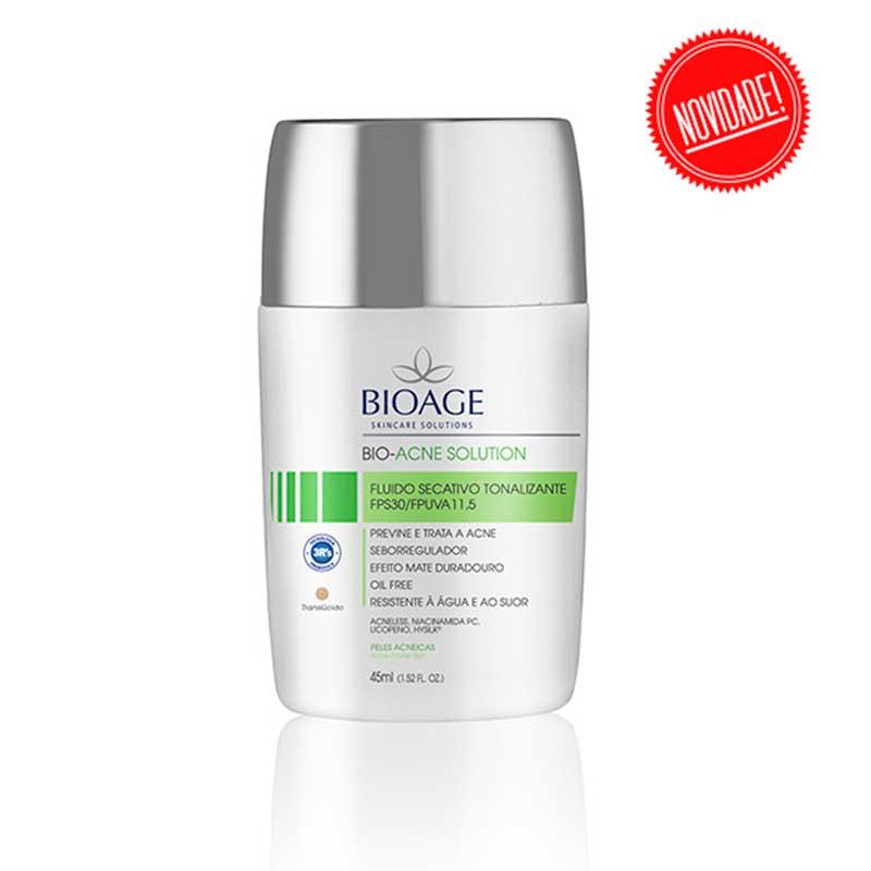 fluido com protetor solar acne