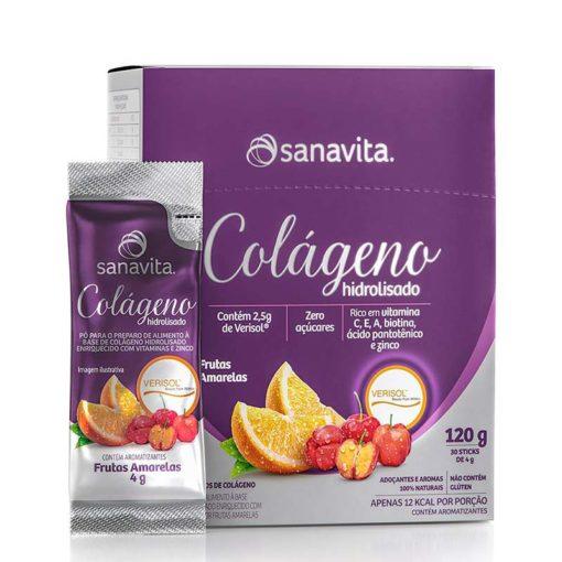 Colágeno Hidrolisado 84g Sanavita frutas sticks Colágeno Verisol