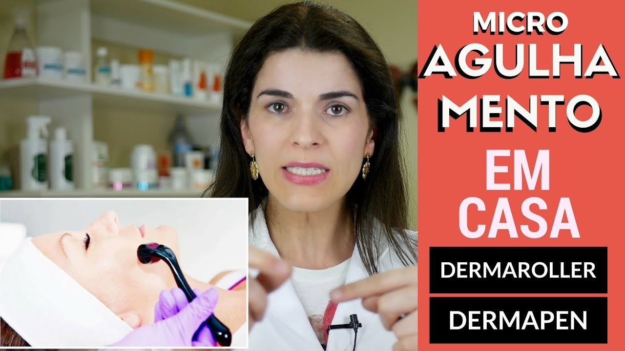 Você Pode FAZER MICROAGULHAMENTO em CASA? Dermaroller e DermaPen