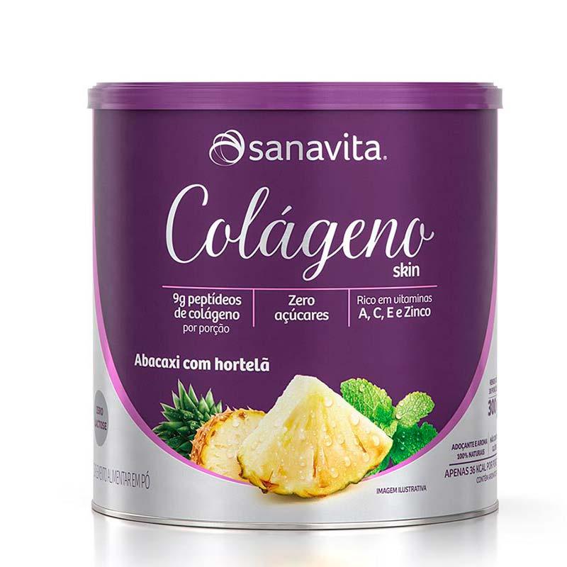 colágeno sanavita limão skin abacaxi com hortelã sanavita