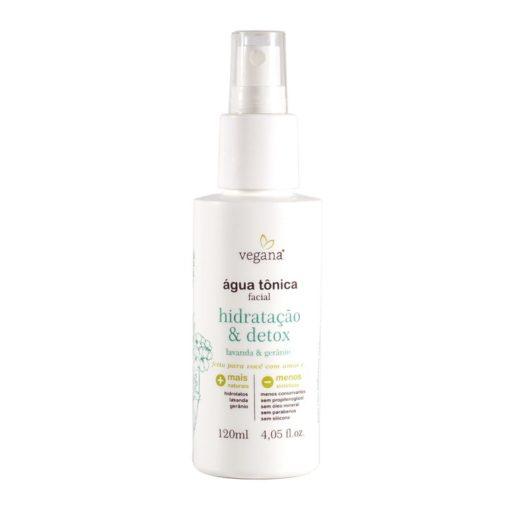 Água Tônica Facial Hidratação & Detox - 120ml vegana wnf vegano