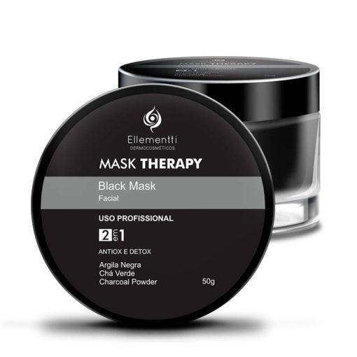 Mask Therapy Black Mask Argila Negra ELLEMENTTI DERMOCOSMÉTICOS