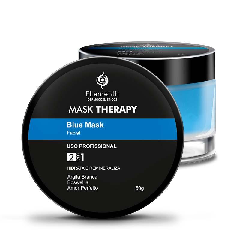 Mask Therapy Blue Mask Argila Branca - 50g ELLEMENTTI