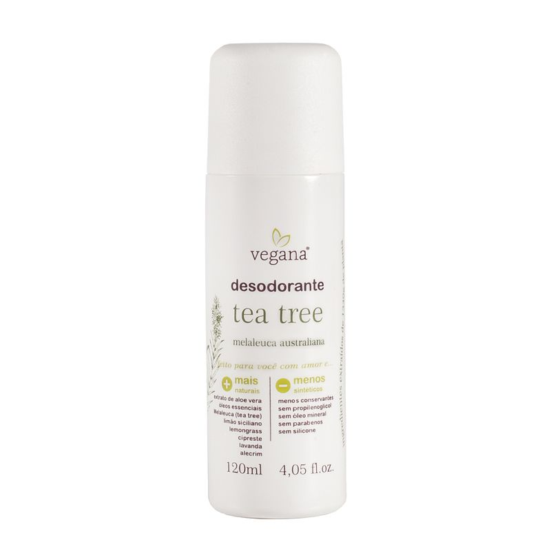 Desodorante Tea Tree Melaleuca 120ml Vegana WNF