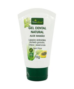 Gel Dental Natural Aloe Vera Mamão livealoe