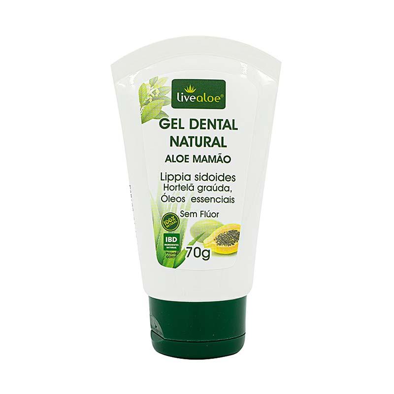 Gel Dental Natural Aloe Vera Mamão livealoe