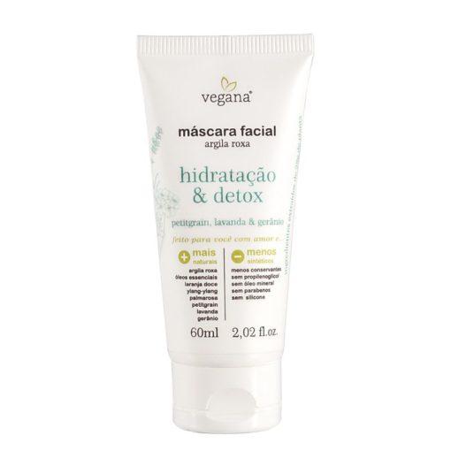 Máscara Facial Argila Roxa Hidratação & Detox wnf vegana