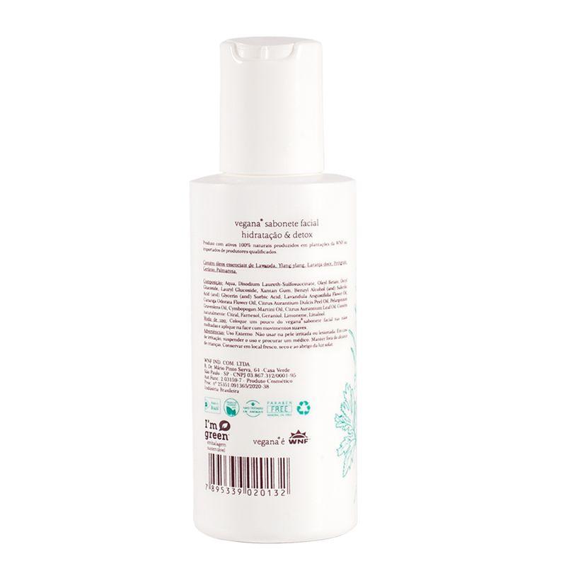 Sabonete Facial Hidratação & Detox - 120ml vegana wnf