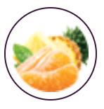 tangerina com abacaxi
