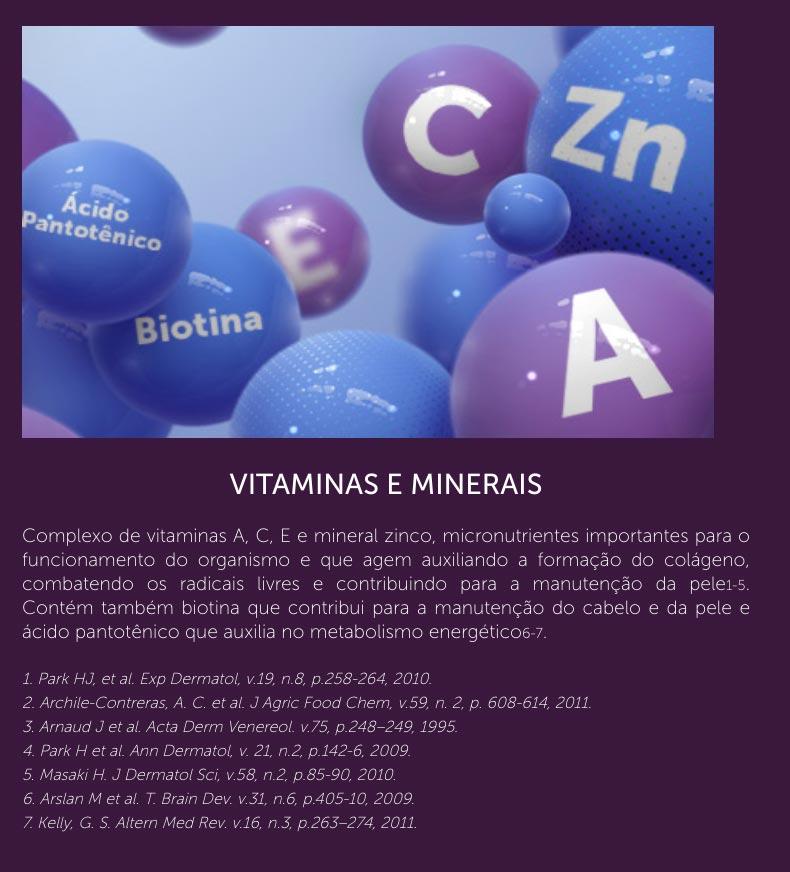 vitamina minerais colageno