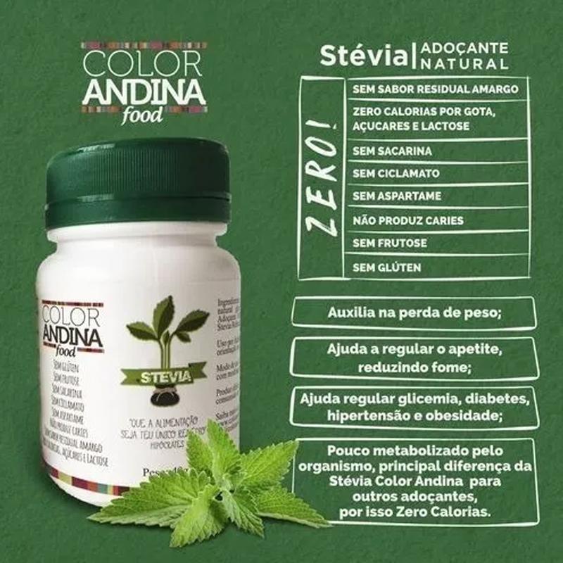 Adoçante Stévia Color Andina 20g